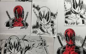 rob liefeld hiding 24 u0027deadpool u0027 sketches around comic con