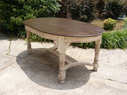 Oval Dining Table Completely Handcrafted Distress Brown Top And - Oval kitchen table