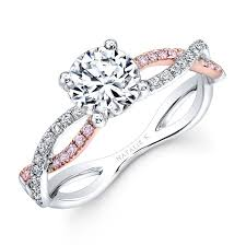rings gold white images White and rose gold twisted shank diamond engagement ring jpg