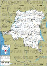 Republic Of Congo Map Geoatlas Countries Democratic Republic Of Congo Map City