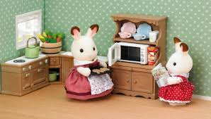 sylvanian families calico critters kitchen cabinet microwave set