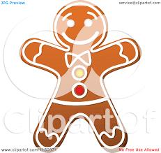 christmas gingerbread man clipart 2026834
