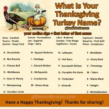 what is your thanksgiving turkey name like glitter bruises on