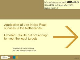 application of low noise road surfaces in the netherlands