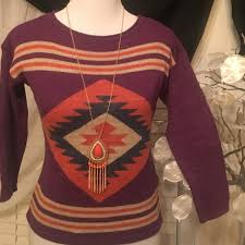 chaps sweaters chaps sweater brand sweater cool colorful aztec prints 100