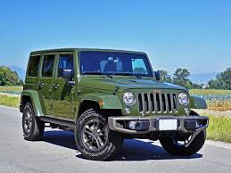jeep sahara 2016 blue 2016 jeep wrangler unlimited 75th anniversary edition road test