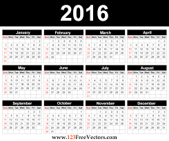 blank calendar template vector