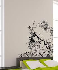 vinyl wall decal sticker geisha in garden 1496