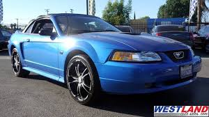 2000 blue mustang 2000 ford mustang gt 2dr convertible in fresno ca westland auto