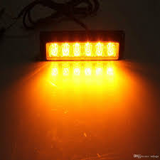 orange led light bar 6 led light bar beacon vehicle grill strobe light emergency warning