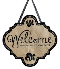 amazon com evergreen welcome blessings hanging outdoor safe