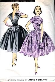 dress pattern fit and flare 1950s anne fogarty evening party dress pattern advance american