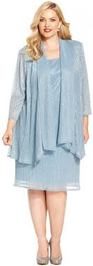 r m richards plus size sleeveless metallic dress and jacket