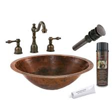 premier copper products all in one bath tub vessel hammered copper