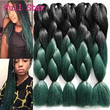 ombre senegalese twists braiding hair 24 inch 100g crochet braiding hair 24 100g black teal green ombre