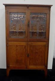 leadlight kitchen cabinets oak 1920 s kitchen dresser with leadlight doors opening to