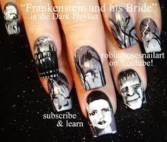 robin moses nail art halloween mike myers nail art