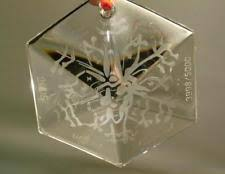 vintage original ornament baccarat glass ebay