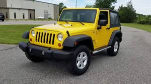jeep wrangler side steps for sale 2007 jeep wrangler x 4x4 for sale 6 speed yellow side steps alloys