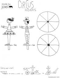 made by joel circus riders kids craft right handed ideas
