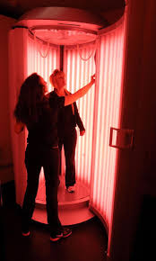 beauty angel red light therapy folks come out of the beauty angel booth with a certain glow