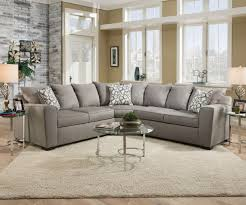 venture sectional sofa 53830 in smoke fabric by acme