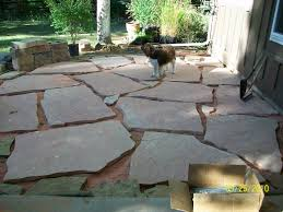 Patio Flagstone Designs Floor Flagstone Patio With Land In Between The Stones And Plants