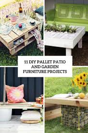 Patio Furniture Pallets by 11 Diy Pallet Patio And Garden Furniture Projects Shelterness