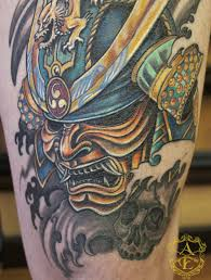 hannya mask samurai tattoo samurai mask tattoo done by sean ambrose by seanspoison on deviantart