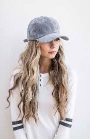 baseball hair styles nice long hair style with cap curl hair for blonde wavy