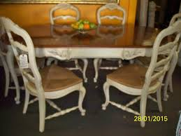 chair french provincial dining table distressed round and chairs