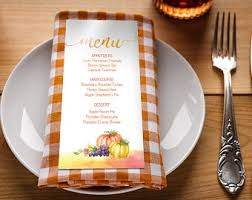 thanksgiving menu etsy