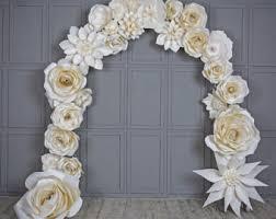 wedding arch backdrop wedding arch paper flowers wedding venue decoration white