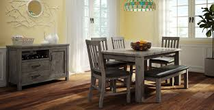 porter 7 piece dining room set slate and black leon u0027s
