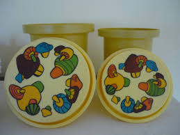 vintage canister set retro 70 u0027s kitchen decor magic mushroom