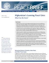 afghan calendar 1393 afghanistan s looming fiscal crisis what can be done united