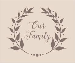 our family wreath stencil 5 sizes available create family signs