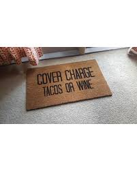 check out these bargains on cover charge doormat welcome mat tacos