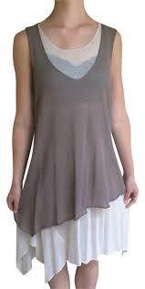 sarah pacini grey flowy summer dress on tradesy