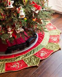 60 inch mistletoe and tree skirt balsam hill
