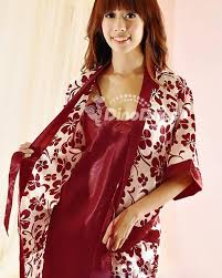nightgowns for honeymoon women satin nightgown sleepwear set 2pcs dinodirect