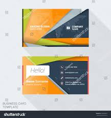 modern creative business card template flat stock vector 360692099