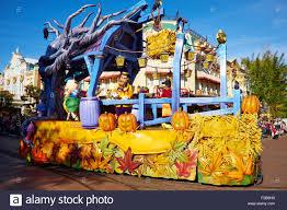 halloween parade along main street disneyland paris marne la