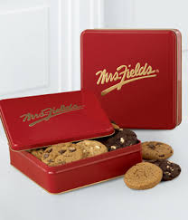 mrs fields gift baskets mrs fields tin with one dozen assorted cookies at from you flowers