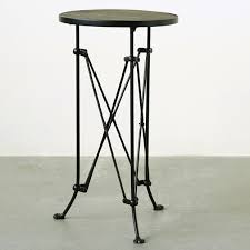 Wood Table With Metal Legs Pine Wood Top Side Table With Intricate Metal Legs Antique Farmhouse