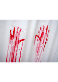 blood bath shower curtain dolls kill