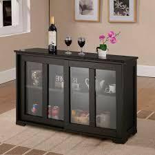 glass kitchen cabinets sliding doors storage cabinet sideboard buffet cupboard glass sliding door pantry kitchen ebay