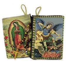 our of guadalupe rosary our of guadalupe st michael two sided rosary pouch the