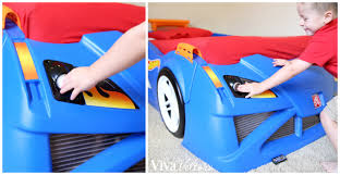Blue Car Bed Race Car Bedroom Featuring The Step2 Wheels Toddler To Twin