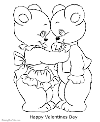 free valentine bear coloring pages 003